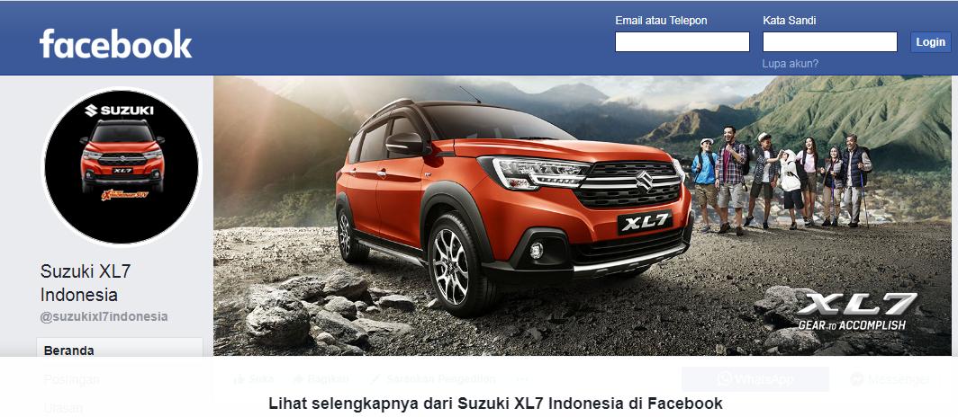 Facebook Suzuki XL7 Indonesia