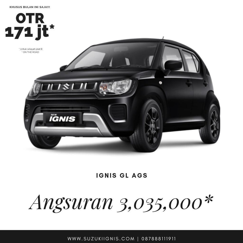 Promo Suzuki Ignis tipe GL AGS angsuran ringan mei 2020